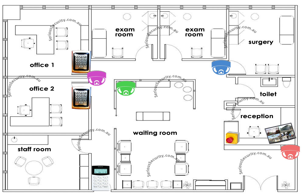 Medical Centre Security on Small Home Office Layout Floor Plans
