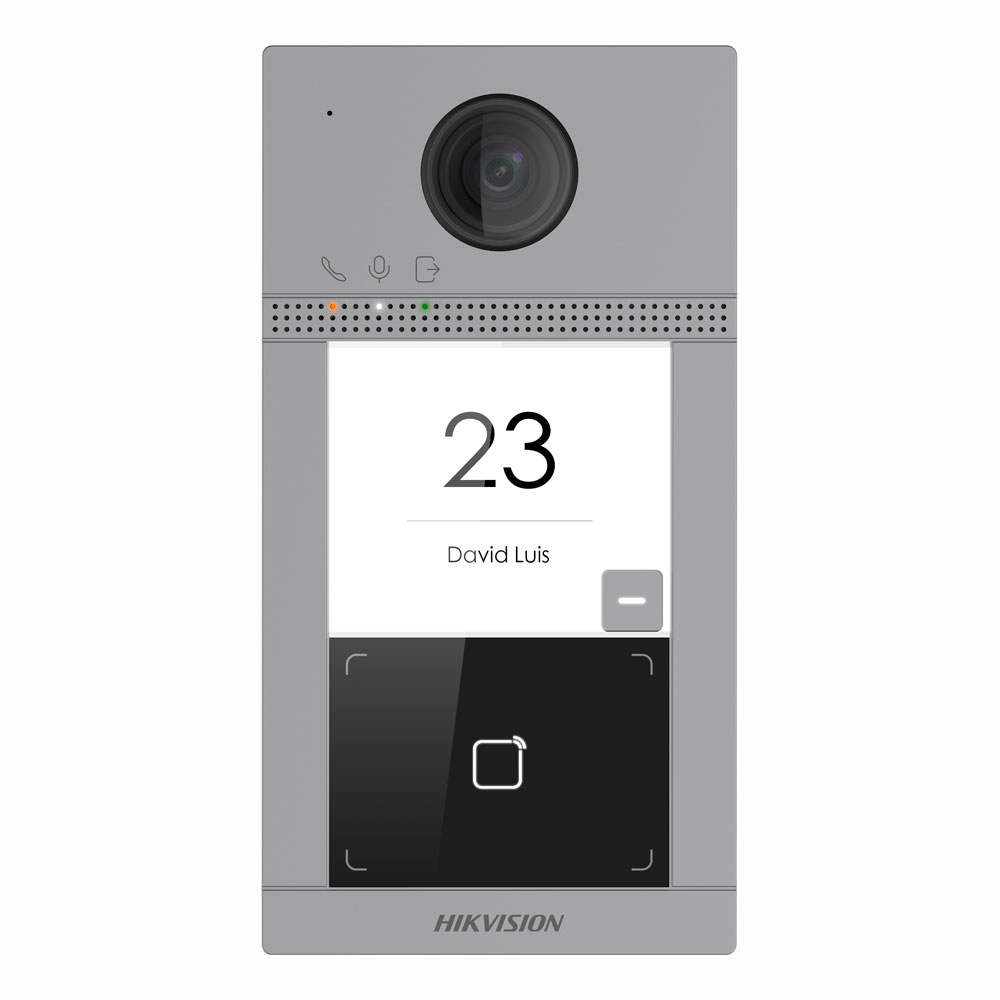 Hikvision's HIK-KV8113-WME1 is a single button, aluminium, villa door entry solution that incorporates the sleek and modern Gen2 look. The cutting-edge feature of this door station is onboard Wi-Fi. Simply supply power to the unit and add a Wi-Fi connection to the router and then you will have a professionally installed solution.